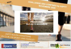 Challenge des Confinés by ASPTT – semaine du 9 au 15 Novembre