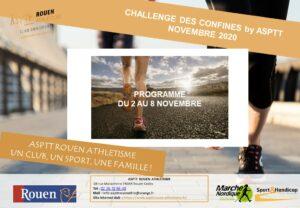 Challenge des Confinés by ASPTT – semaine du 2 au 8 Novembre